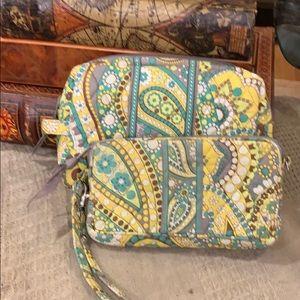 Vera Bradley Wristlet and Cosmetic Bag